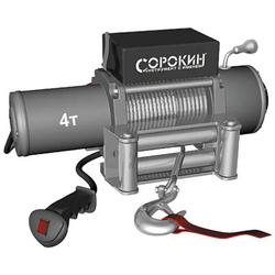Сорокин 4.904 лебёдка электрическая 4.0т на автомобиль Сорокин Электрические Лебедки